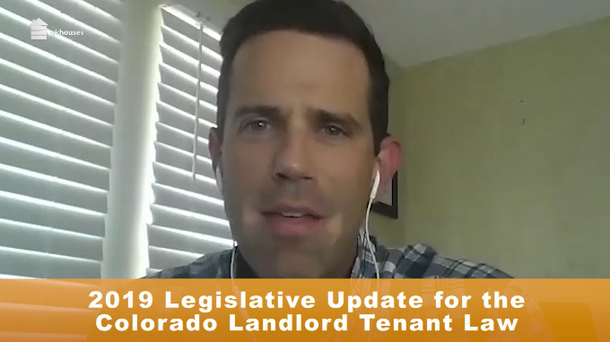 2019 Legislative Update for the Colorado Landlord-Tenant Law